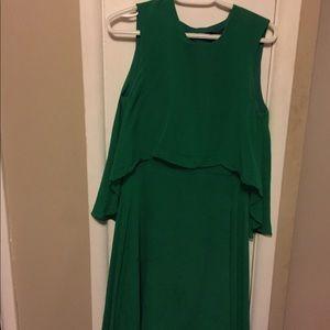 BCBG green Long chiffon Dress